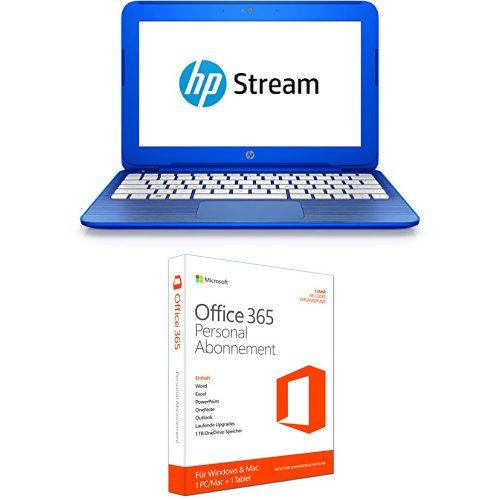 HP Stream (11-r000ng) 29,5 cm (11,6 Zoll/HD) Notebook + Microsoft Office 365 Personal - 1 PC/MAC - 1 Jahresabonnement