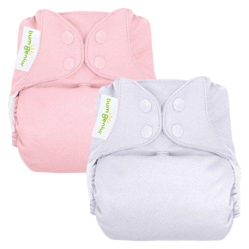 bumGenius Reusable Diaper 2 pack - Girl (Snap Closure)