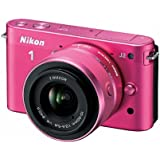 Nikon 1 J2 10.1 MP HD Digital Camera with 10-30mm and 30-110mm VR Lenses (Pink)