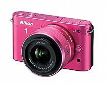 Nikon 1 J2 10.1 MP HD Digital Camera with 10-30mm and 30-110mm VR Lenses (Pink)