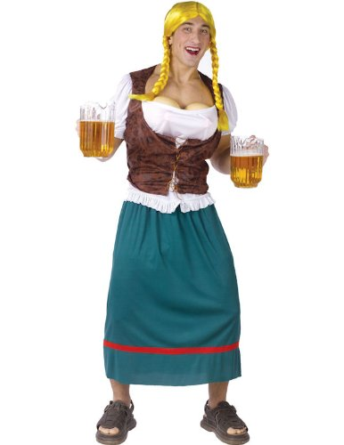 Bavarian Beauty with Beer Tap Bust Costume - Standard - Chest Size 33-45