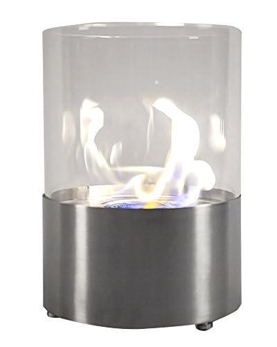 Kardiel EcoPyro Cannonsburg Tabletop Ethanol Fireplace, Silver