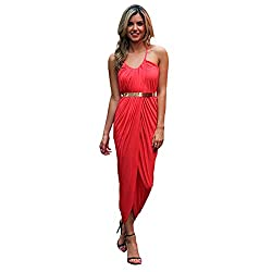 Jaune Women's Dress (Jbw151011023 - Rdm_Red_Medium)