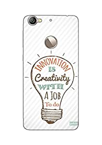 Gobzu Printed Hard Case Back Cover for LeEco LeTv Le 1S - Innovation is Creativity