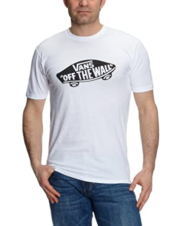Vans M VANS OTW WHITE/BLACK - T-shirt - Manches courtes - Homme - Noir (White/Black) - Medium (Taille fabricant: M)