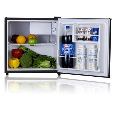 Midea Whs-65L Compact Single Reversible Door Refrigerator With Freezer, 1.7 Cubic Feet