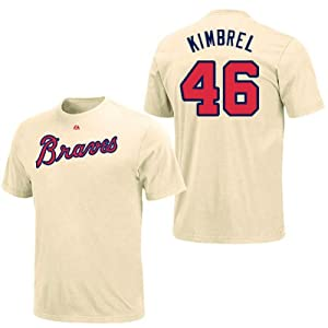 Craig Kimbrel Atlanta Braves Ivory Player T-Shirt by Majestic by Majestic