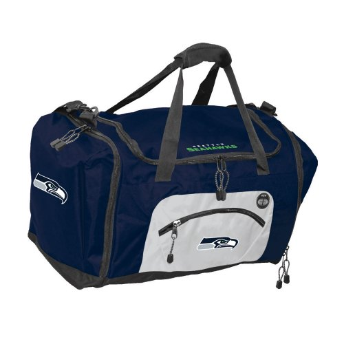 NFL Seattle Seahawks Roadblock Duffel Bag, Navy at Amazon.com