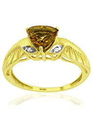 JewelryKarigiri White Citrine With CZ Ring For Women - B00MVVPQRS