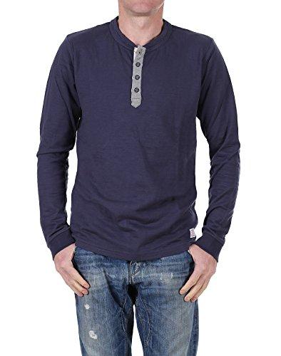 Jack & Jones maglia a maniche lunghe Number LS Tee 7-8-9 TTT blu (Mood Indigo) Small