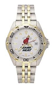 Miami Heat Mens All Star Watch Stainless Steel Bracelet by Logo Art