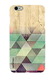 iSweven Printed _iph5_3168 Color full Triangle wood Design Multicolored Matte finish Back case cover for Apple iPhone 5