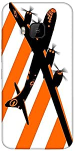 Snoogg Orange Smoke Plan 2509 Designer Protective Back Case Cover For HTC M9