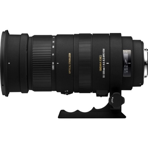 Sigma Sigma 50-500mm F4-6.3 APO DG HSM Optical Stabilised lens for Canon Full Frame and Digital APS-C SLR Cameras