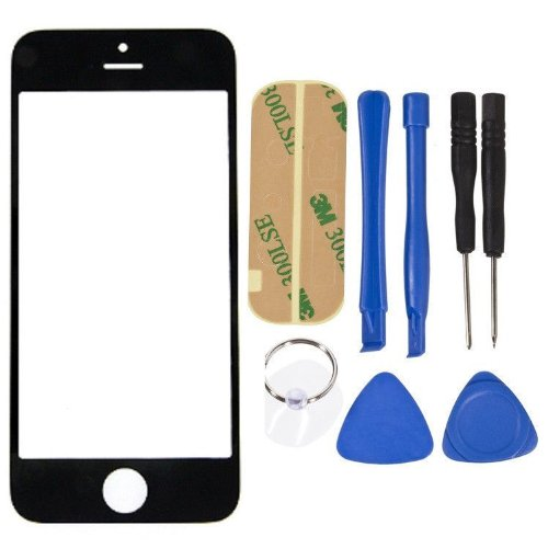 Replacement Lcd Front Screen Glass Lens + Free Tools For Apple Iphone 5C Black