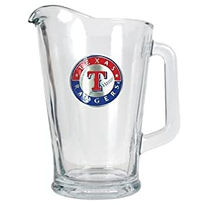 MLB Texas Rangers 60-Ounce Glass Pitcher - Primary Logo by Great American Products