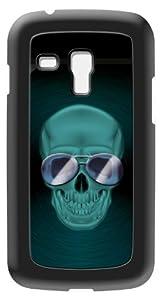 Modelabs Made In France Coque auto cicatrisante en silicone pour Samsung Galaxy S3 Mini Motif Crâne Noir