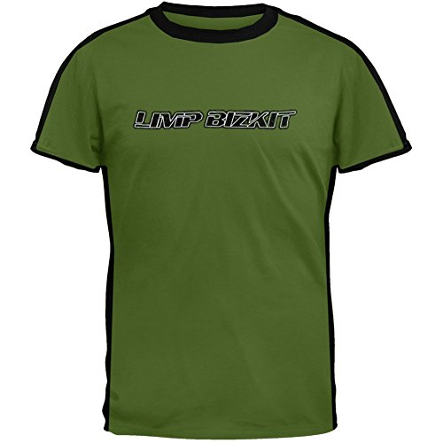 Limp Bizkit -Striper- Green T-Shirt - Medium (Limp Bizkit Merchandise compare prices)