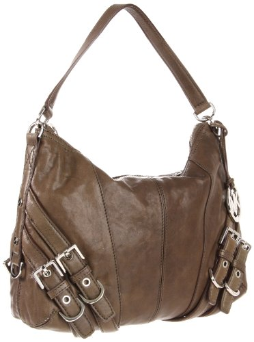Michael Kors Loden Leather Milo Medium Convertible Shoulder Bag Handbag