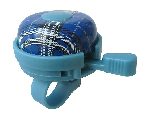 Bicycle Bell Plaid Blue , by Biria