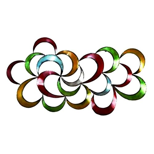 Bombayjewel Colorful Abstract 3D Metal Wall Art