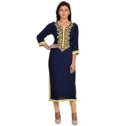 Shree Ram Impex Rajasthani Traditional Rayon Jaipuri Embroidered kurti