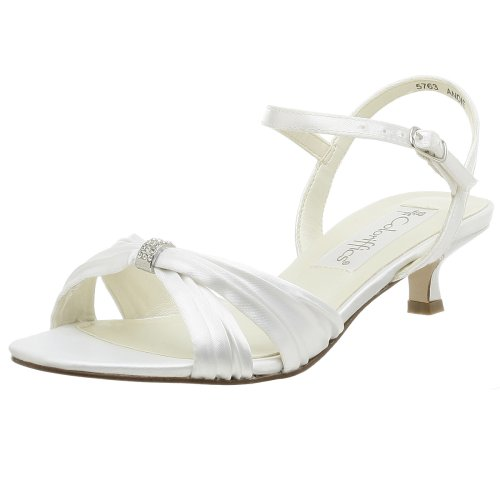 Coloriffics Women's Andie Sandal,White,11 M