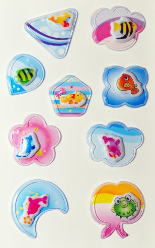 3D Shake Cartoon Stickers with Mixed and Funny Design - 4 Sheets per Package