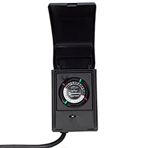 Intermatic P1121 Heavy Duty Outdoor Timer 15 Amp 1 HP Plug In Timer Switche