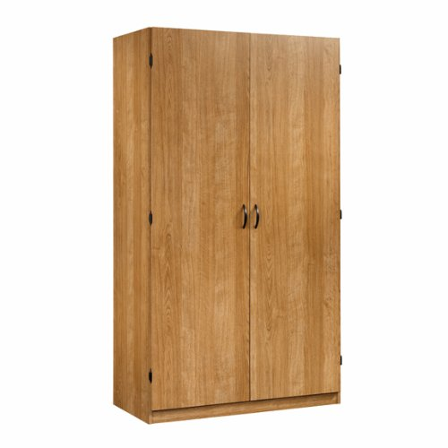 Armoire / Wardrobe / Storage Cabinet - Highland Oak Finish back-942665