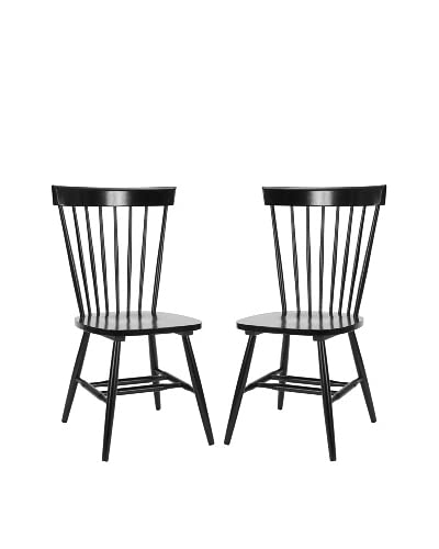 Safavieh Set of 2 Parker Chairs, Black