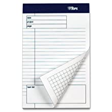 TOPS Docket Gold Project Planning Pad, 5 x 8 Inches, Perforated, White, Project Rule, 40 Sheets per Pad, 6 Pads per Pack (77152)