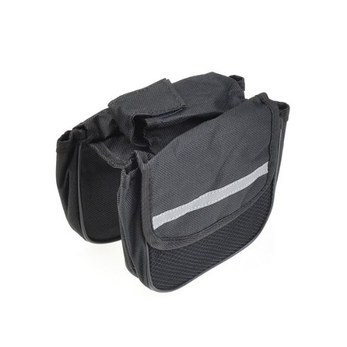 BestDealUSA New Outdoor Cycling Bicycle Frame Bike Pannier Front Saddle Tube Bag Black