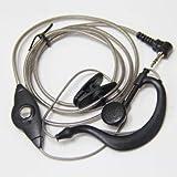 1pin 2.5mm Black Aluminum Foil Earpiece Earphone Headset for Motorola Talkabout Cobra Walkie Talkie Two Way Radio 1pin (Tamaño: Covert Acoustic Tube, 2 pin)