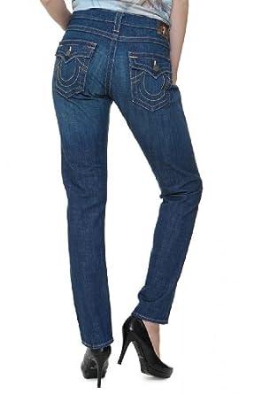True Religion Boyfriend Jeans CAMERON BUGSY GOLD B, Couleur: Bleu foncé, Taille: 26