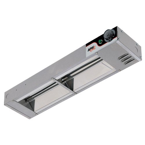 APW Wyott Single Standard Toggle Control Calrod Overhead Warmer - High Wattage, 6 x 2 1/2 x 24 1/4 inch -- 1 each.