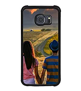 Vizagbeats Couple Watching Clouds Back Case Cover For Samsung Galaxy S6 Edge