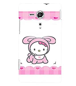 Printvisa Animated Baby Kitty Back Case Cover for Sony Xperia SP::Sony Xperia SP M35h