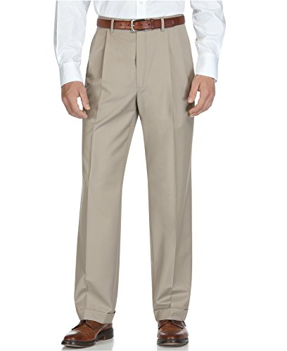 Ralph Lauren Taupe Double Pleated And Cuffed New Mens Dress Pants (34W X 30L)