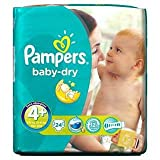 Pampers Baby Dry Size 4+ (9-20kg) Maxi Plus x 24 per pack