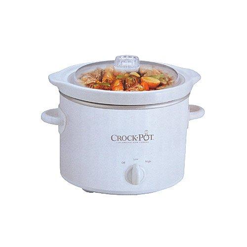 crock pot classic scr200 w 2qt mini cooker white w recipes 048894032363 34 99