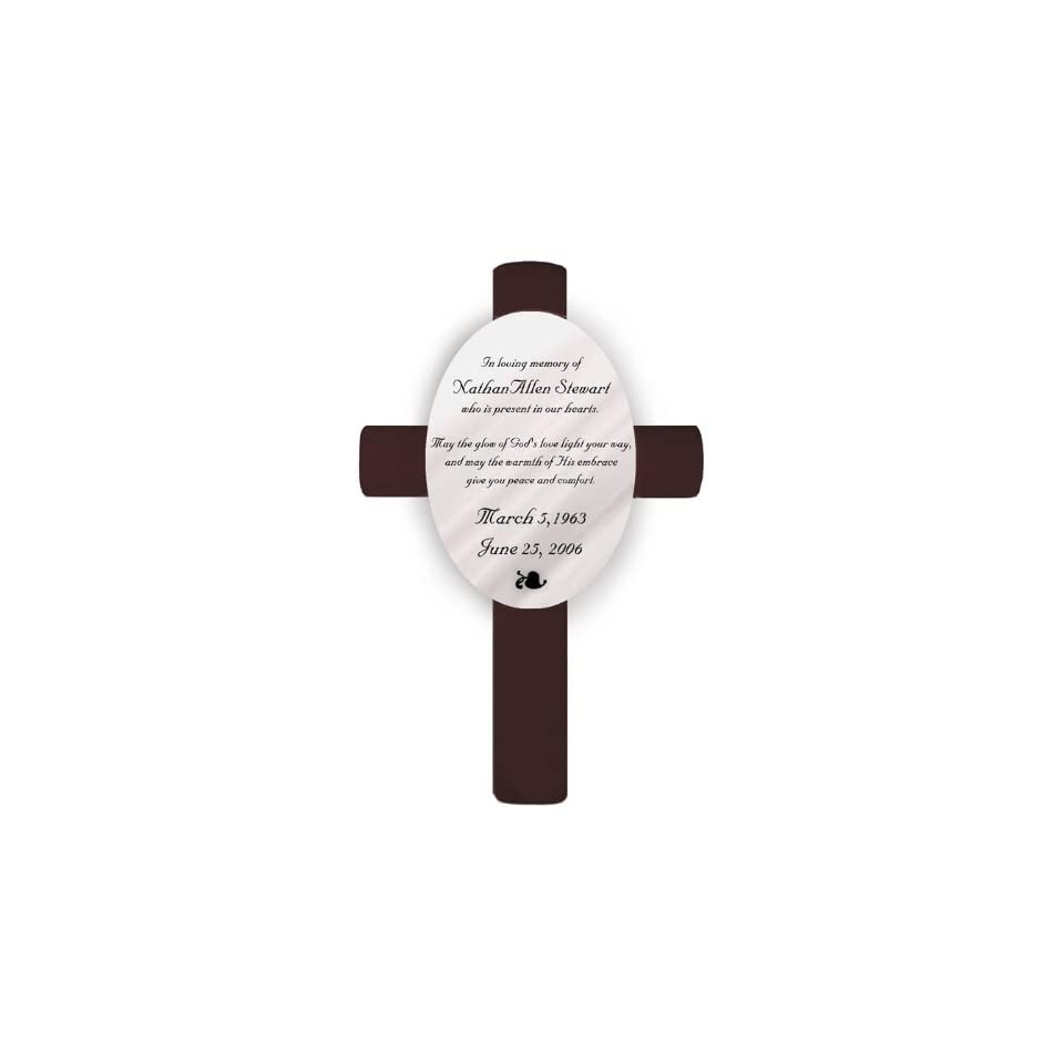 Wedding Favors Personalized Memorial Cross God`s Love