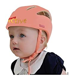 Infant Baby Toddler Safety Head Protection Helmet - Packed in Gift Box (Salmon)