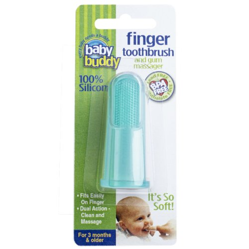 Baby-Buddy-Finger-Toothbrush-Stage-2-for-BabiesToddlers-Kids-Love-Them-Green