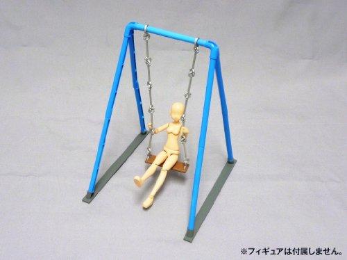 1/12フィギュア用情景セットシリーズNo. 03 ぶらんこ (水色)
