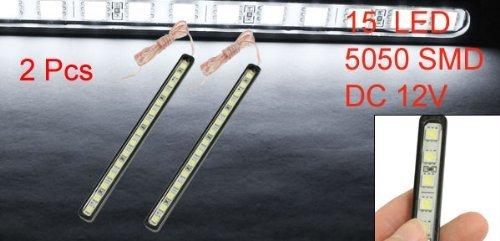 2 Pcs 15 5050 SMD LED DRL Auto Conduire diurnes Lampe Blanc