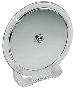Fantasia - Miroir grossissant ( x 5) portatif et sur pied - Plastique - Transparent - ø 15.5 cm