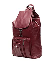 New Zovial Mast Maroon PU Small Backpack