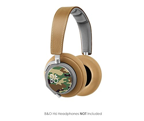 Woodland Camouflage Vinyl Art Decal Cups (Designed To Fit Bang & Olufsen H6 Headphones - Headphones Not Included)