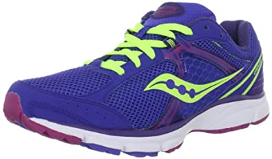 Saucony Women's Catalyst Running Shoe,Blue/Pink/Citron,5 M US